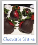 stain removal chocolate
