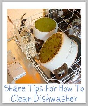 cleaning dishwasher