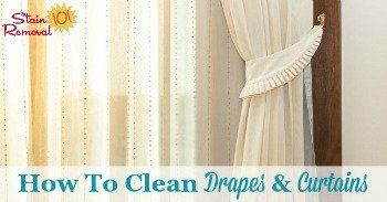 How to clean drapes and curtains