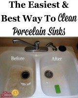The easiest and best way to clean porcelain sinks