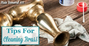 Tips for cleaning brass
