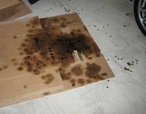 oil drips on garage floor