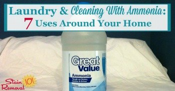Laundry and cleaning with ammonia: 7 uses