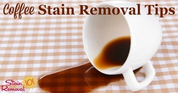 Coffee stain removal tips