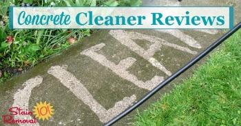 Concrete cleaner reviews