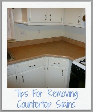 tips for removing countertop stains