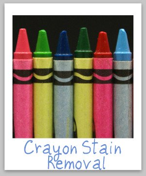 Crayon Stain Removal Guide For Clothing Upholstery