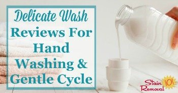 Delicate wash reviews for hand washing and gentle cycle