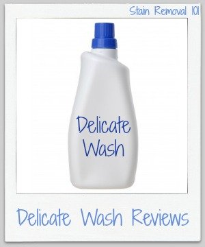 Lots of delicate wash reviews so you can find the right product to use for hand washing clothes or for use in the gentle or declicate cycle of your washing machine {on Stain Removal 101}