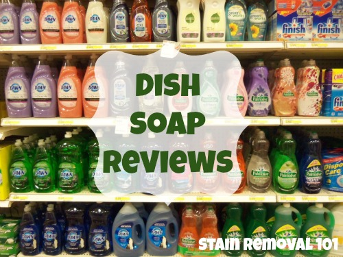 Over 40+ dish soap reviews, with a large variety of brands and scents, including both name brands, eco-friendly and store brands