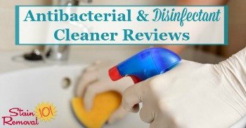 Antibacterial and disinfectant cleaner reviews