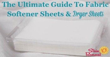 The Ultimate Guide To Fabric Softener Sheets & Dryer Sheets