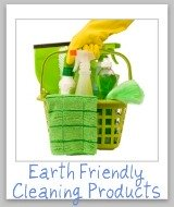 green cleaning basket