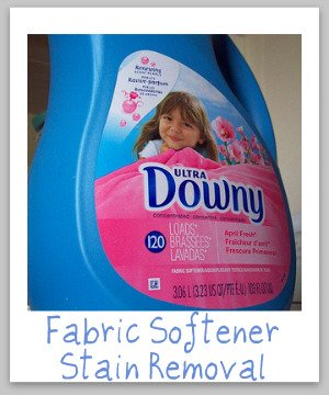Fabric softener stain removal guide -- how to get rid of those blue grey stains once and for all! {on Stain Removal 101}