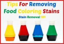 how to remove food coloring stains