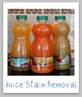 fruit juice stain removal