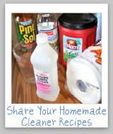 homemade cleaner supplies