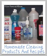 homemade cleaning products ingredients