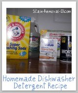 homemade dishwasher detergent ingredients