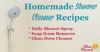 Homemade shower cleaner recipes