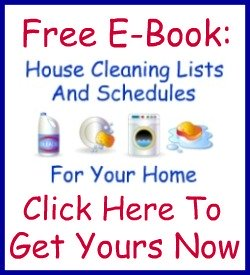 cleaning list for housekeeper