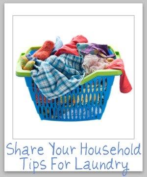 household tips for laundry