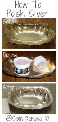 Steps for how to polish silver, including some green hints for doing it in a more eco-friendly way. {on Stain Removal 101}