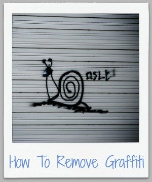 how to remove graffiti