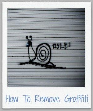 how to remove graffiti