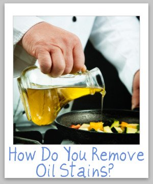 how to remove oil stains