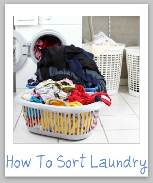 how to sort laundry