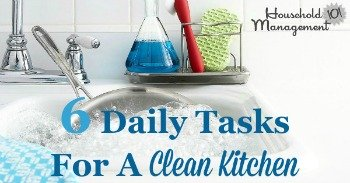 6 daily tasks for a clean kitchen