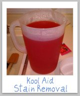 removing kool aid stains