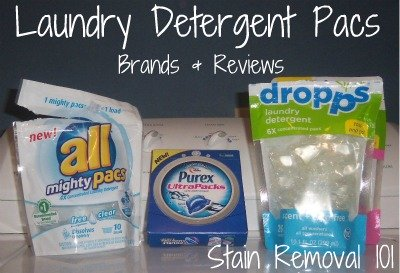 Pros and cons of laundry detergent pacs, plus reviews of the brands which currently offer them.