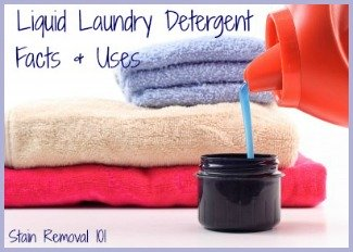 Facts and information about liquid laundry detergent, including 4 instances when you should consider using it instead of powdered detergent.