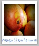mango juice stain removal