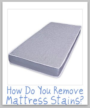 Tips for cleaning and removing mattress stains and odors {on Stain Removal 101}