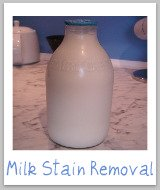 milk stain removal
