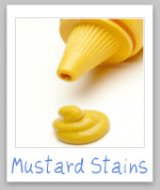 remove mustard stains