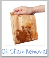 oil stains removal