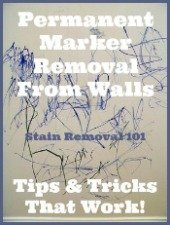 Tips and tricks for permanent marker removal from walls