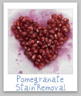 pomegranate juice stains