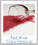 red wine stain removal