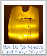 remove candle wax stains
