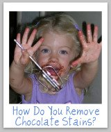 remove chocolate stain