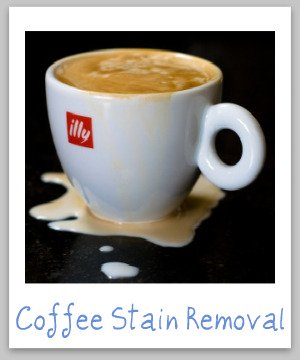 How to remove coffee stains from clothing, upholstery and carpet, with step by step instructions {on Stain Removal 101}