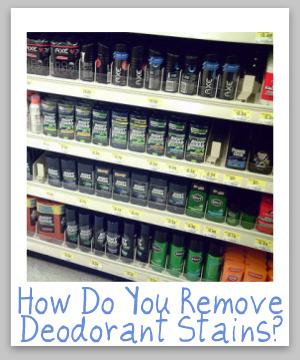 remove deodorant stains