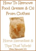 how to remove food grease and oil from clothes