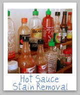 remove hot sauce stains