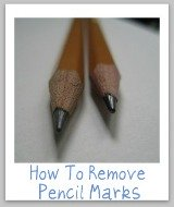 how to remove pencil marks